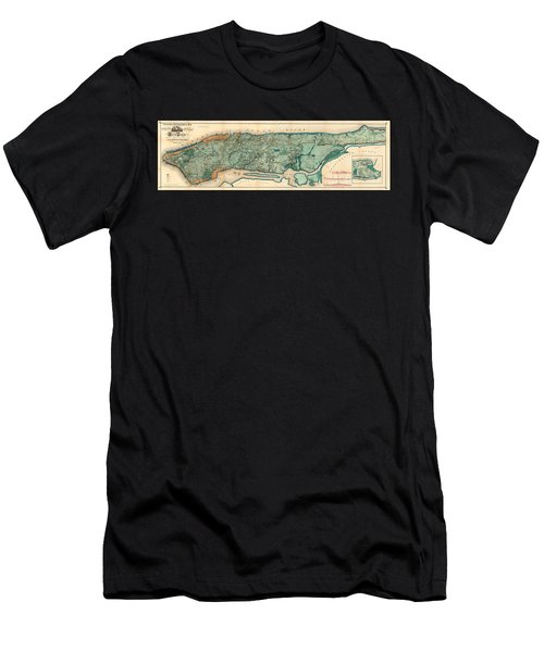 Map Of Manhattan Men's T-Shirt (Athletic Fit)