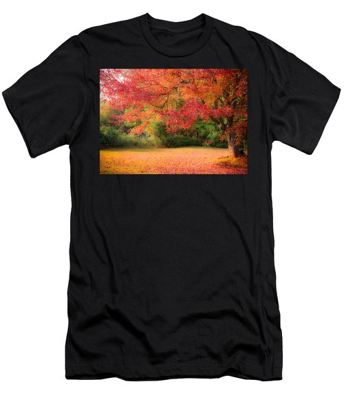 Maple In Red And Orange Men's T-Shirt (Athletic Fit)