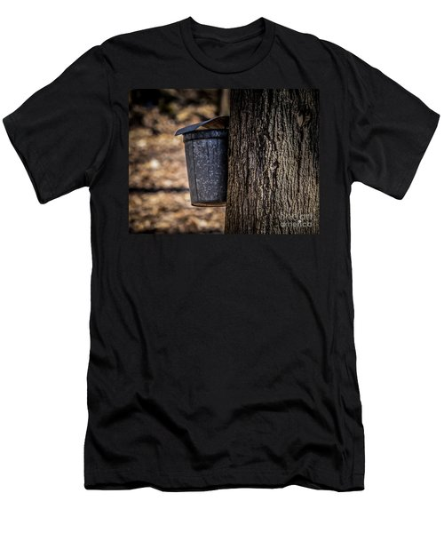 Maple Syrup Time Collecting Sap Men's T-Shirt (Athletic Fit)