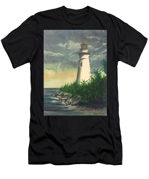 Marblehead Light On Lake Erie Men's T-Shirt (Athletic Fit)