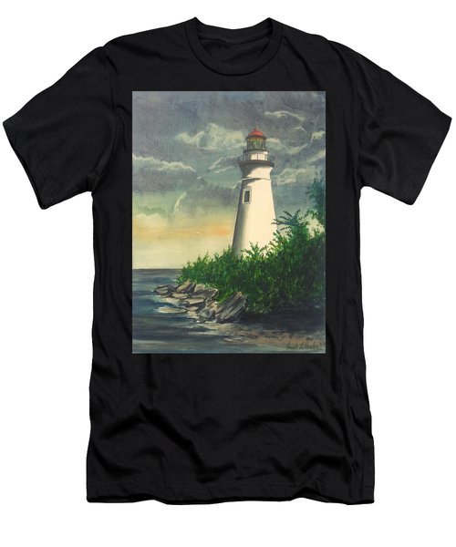 Marblehead Light On Lake Erie Men's T-Shirt (Athletic Fit)