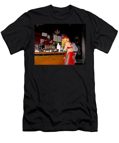 Men's T-Shirt (Slim Fit) featuring the photograph Mardi Gras Bar French Quarter by Luana K Perez