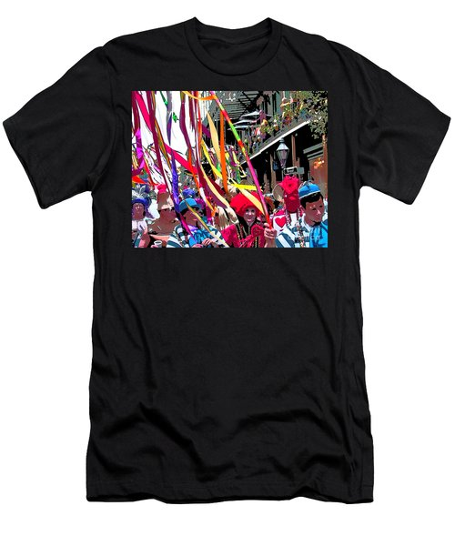 Men's T-Shirt (Slim Fit) featuring the photograph Mardi Gras Marching Parade by Luana K Perez