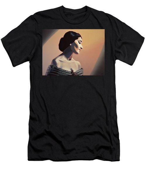 Maria Callas Painting Men's T-Shirt (Athletic Fit)