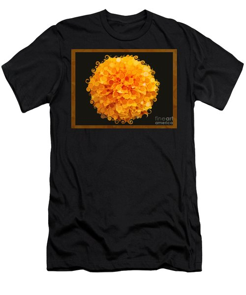Marigold Magic Abstract Flower Art Men's T-Shirt (Athletic Fit)