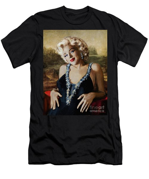Marilyn 126 Mona Lisa Men's T-Shirt (Athletic Fit)