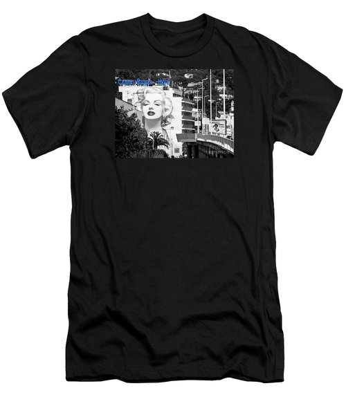 Men's T-Shirt (Slim Fit) featuring the photograph Marilyn In Cannes by Jennie Breeze