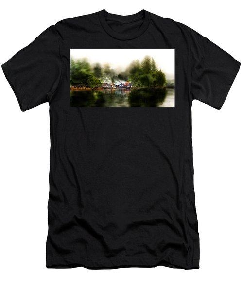 Marina Retreat Men's T-Shirt (Slim Fit) by Debra Baldwin