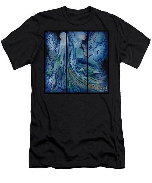 Marina Triptych Men's T-Shirt (Athletic Fit)