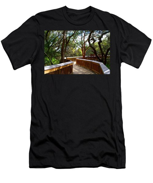 Maritime Forest Boardwalk Men's T-Shirt (Slim Fit) by Kathryn Meyer