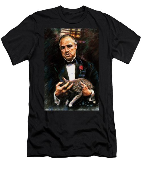Marlon Brando The Godfather Men's T-Shirt (Athletic Fit)