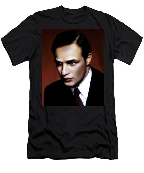 Marlon Brando Tribute Men's T-Shirt (Athletic Fit)