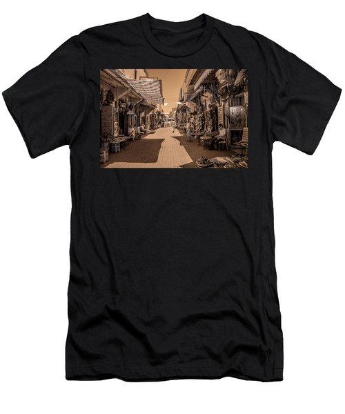 Marrackech Souk At Noon Men's T-Shirt (Athletic Fit)