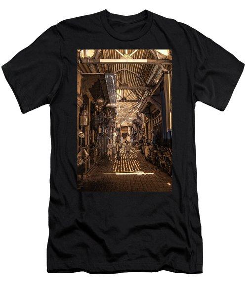 Marrakech Souk With Children Men's T-Shirt (Athletic Fit)