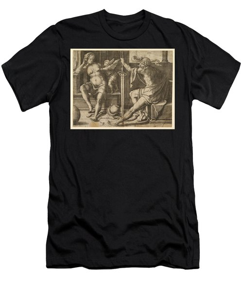 Mars Venus And Cupid Men's T-Shirt (Athletic Fit)
