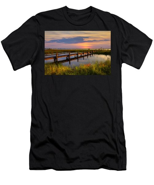 Men's T-Shirt (Athletic Fit) featuring the photograph Marsh Harbor by Debra and Dave Vanderlaan
