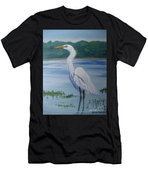 Marsh Land Egret Men's T-Shirt (Athletic Fit)