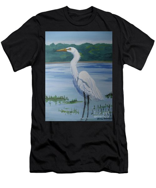 Marsh Land Egret Men's T-Shirt (Athletic Fit)