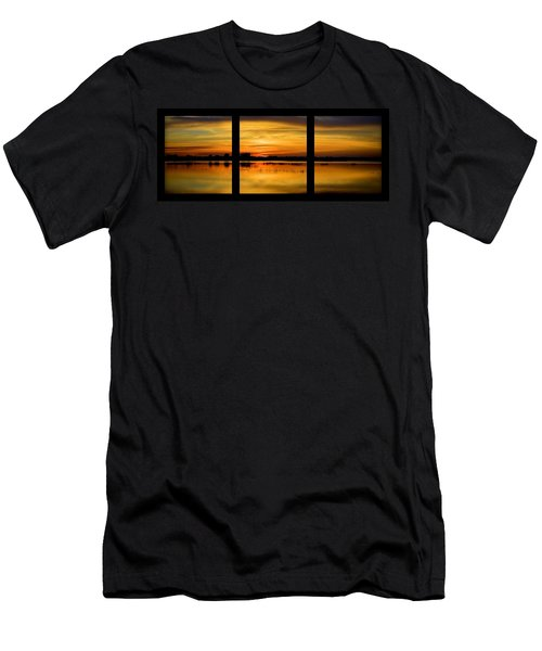 Marsh Rise Tiles 1-3 Men's T-Shirt (Slim Fit) by Bonfire Photography