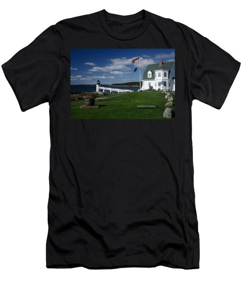 Marshall Point Lighthouse Men's T-Shirt (Slim Fit)