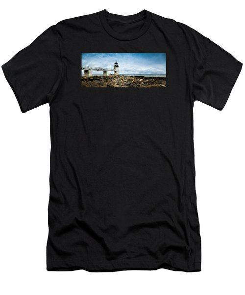 Marshall Point Lighthouse Panoramic Men's T-Shirt (Athletic Fit)