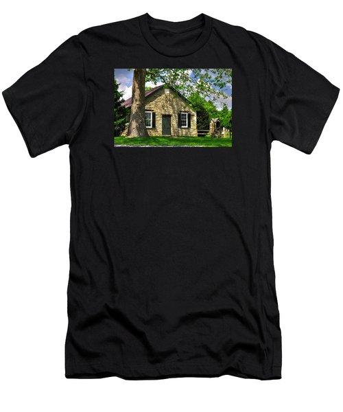 Maryland Country Churches - Fairview Chapel-1a Spring - Established 1847 Near New Market Maryland Men's T-Shirt (Slim Fit) by Michael Mazaika