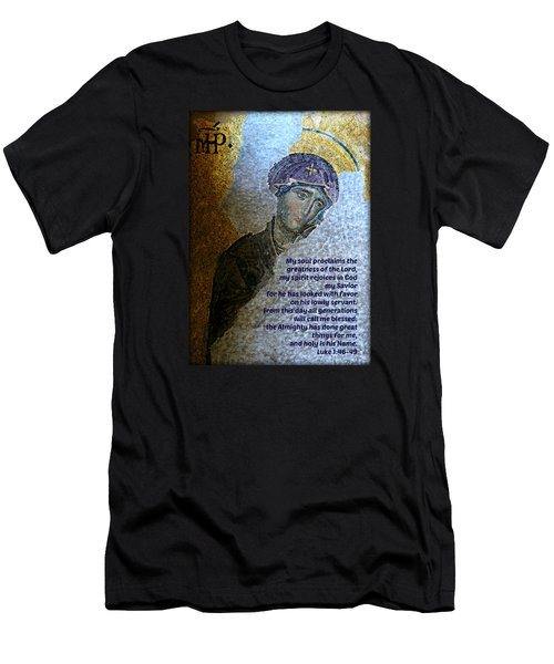 Mary's Magnificat Men's T-Shirt (Slim Fit) by Stephen Stookey