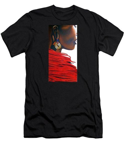 Masai Bride - Original Artwork Men's T-Shirt (Athletic Fit)