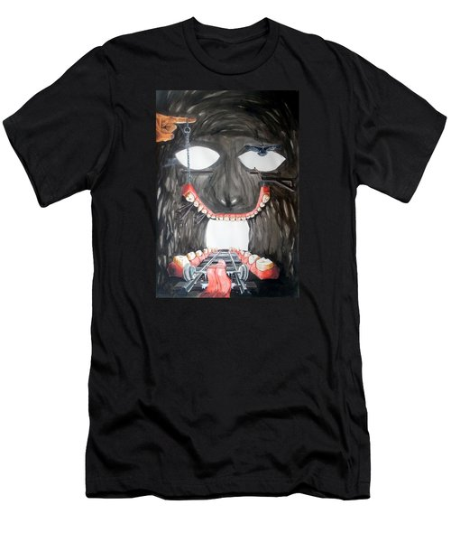 Men's T-Shirt (Slim Fit) featuring the painting Masquera Carcaza  by Lazaro Hurtado