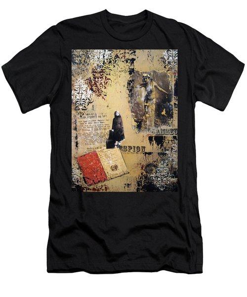 Men's T-Shirt (Slim Fit) featuring the painting Mata Hari by Debra Crank