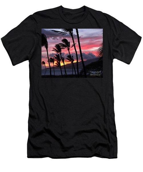 Maui Sunset Men's T-Shirt (Slim Fit) by Peggy Hughes
