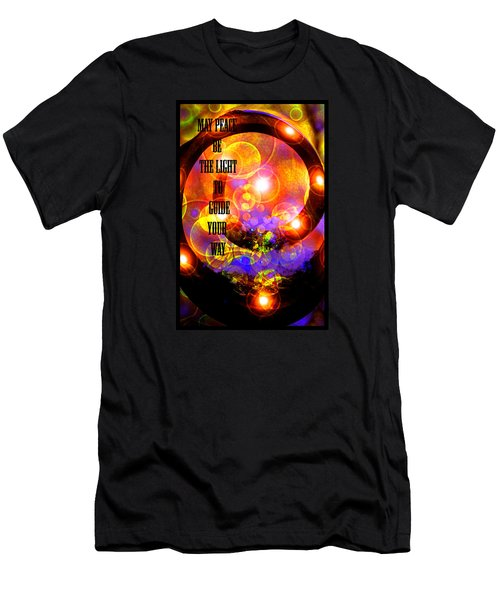 Men's T-Shirt (Slim Fit) featuring the photograph May Peace Be The Light To Guide Your Way by Susanne Still