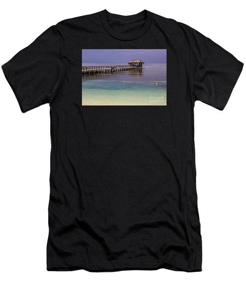 Maya Key Pier At Roatan Men's T-Shirt (Athletic Fit)