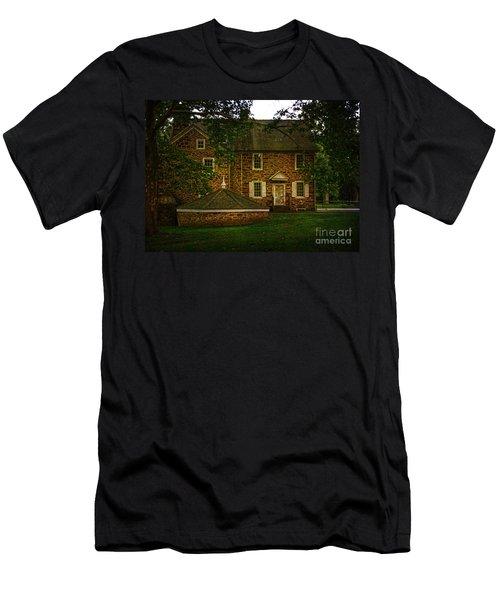 Men's T-Shirt (Slim Fit) featuring the photograph Mcconkey's Ferry Inn by Debra Fedchin