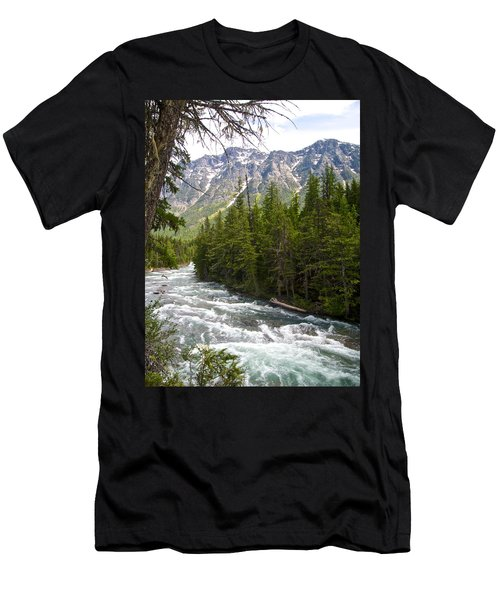 Mcdonald Creek In Glacier Np-mt Men's T-Shirt (Athletic Fit)