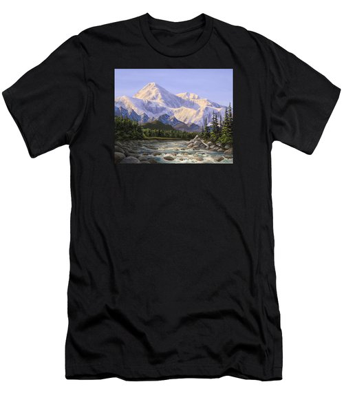 Majestic Denali Alaskan Painting Of Denali Men's T-Shirt (Athletic Fit)