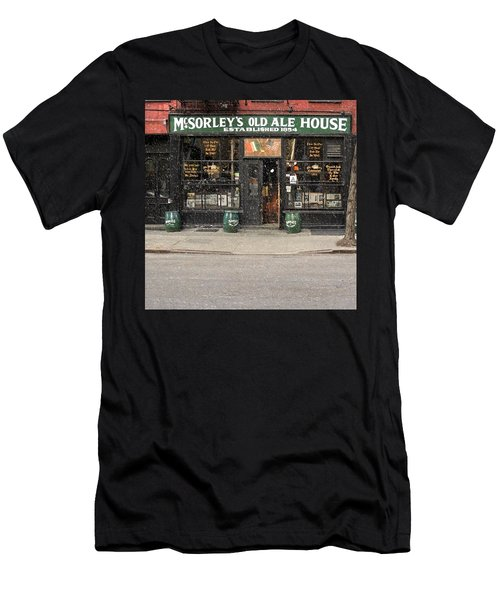 Mcsorley's Old Ale House During A Snow Storm Men's T-Shirt (Athletic Fit)