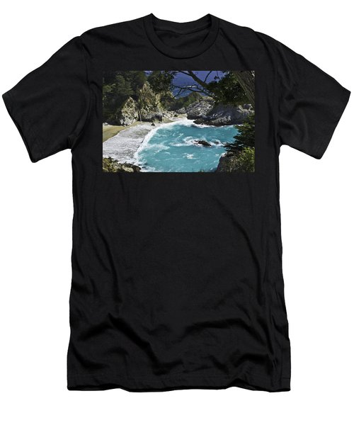 Mcway Falls - Big Sur Men's T-Shirt (Athletic Fit)