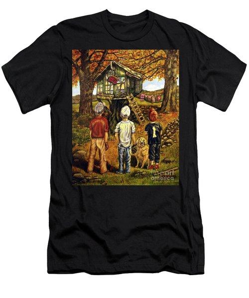 Meadow Haven Men's T-Shirt (Slim Fit) by Linda Simon