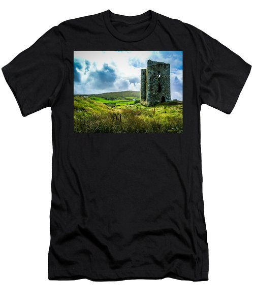 Medieval Dunmanus Castle On Ireland's Mizen Peninsula Men's T-Shirt (Athletic Fit)