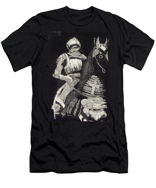 Medieval Knight On Horseback - Chevalier - Caballero - Cavaleiro - Fidalgo - Riddare -ridder -ritter Men's T-Shirt (Athletic Fit)