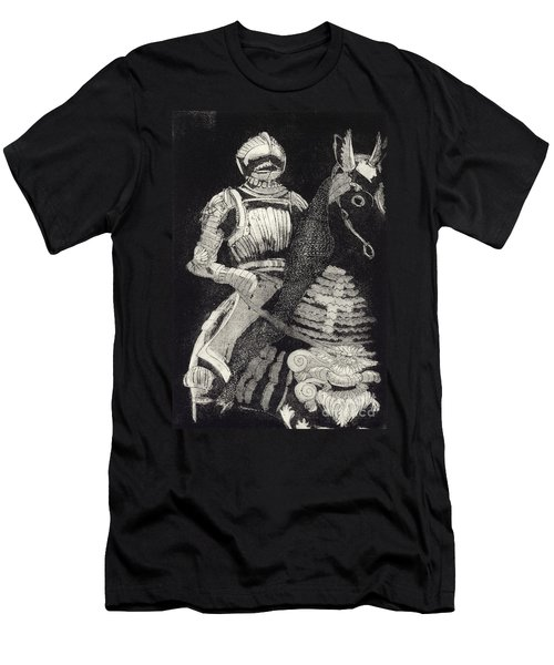 Medieval Knight On Horseback - Chevalier - Caballero - Cavaleiro - Fidalgo - Riddare -ridder -ritter Men's T-Shirt (Athletic Fit)