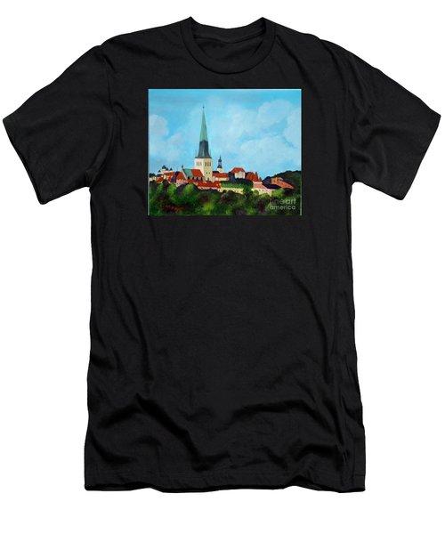 Medieval Tallinn Men's T-Shirt (Athletic Fit)