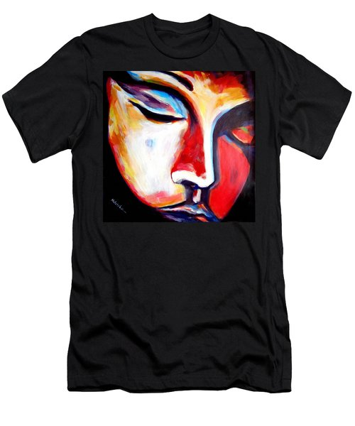 Men's T-Shirt (Slim Fit) featuring the painting Meditation by Helena Wierzbicki