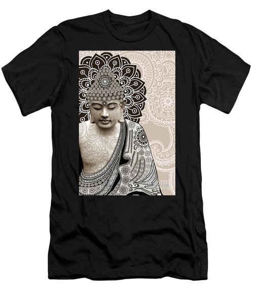Meditation Mehndi - Paisley Buddha Artwork - Copyrighted Men's T-Shirt (Slim Fit) by Christopher Beikmann