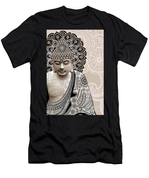 Meditation Mehndi - Paisley Buddha Artwork - Copyrighted Men's T-Shirt (Athletic Fit)