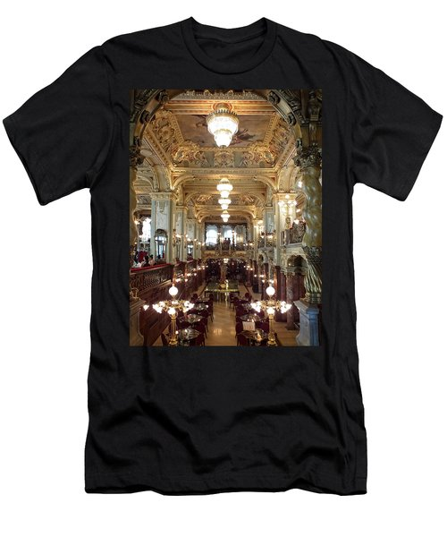 Meet Me For Coffee - New York Cafe - Budapest Men's T-Shirt (Athletic Fit)
