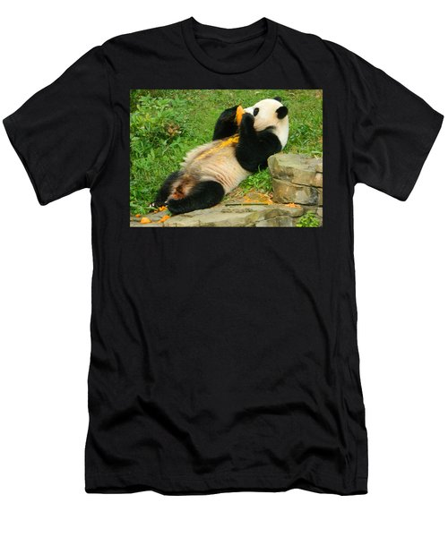 Mei Xiang Chowing On Frozen Treat Men's T-Shirt (Athletic Fit)