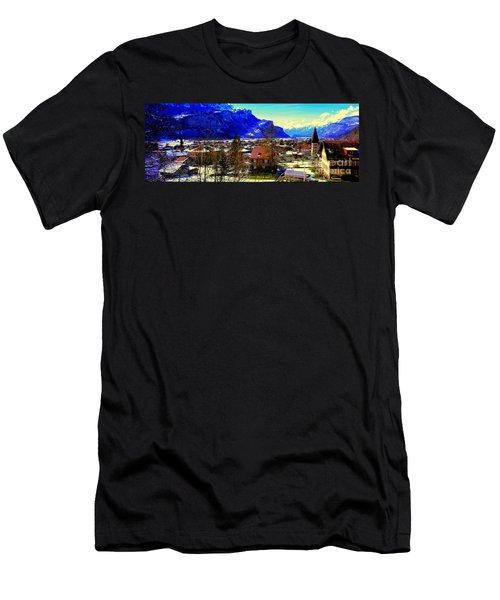 Meiringen Switzerland Alpine Village Men's T-Shirt (Athletic Fit)