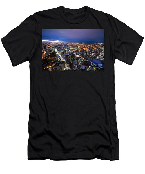Melbourne At Night Men's T-Shirt (Athletic Fit)